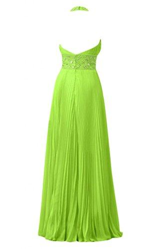 Sunvary nuovo arrivo una linea Halter abiti lunghi in Chiffon Prom Gowns Verde mela