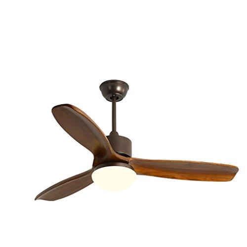 Gydd lampadario plafoniera nordic semplice creativo ventilatore a soffitto in legno massello di illuminazione per soggiorno/camera da letto/cucina/ingresso (colore : walnut color-s.)