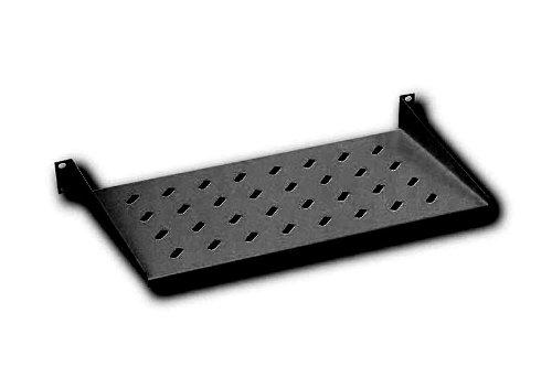 DIGITUS Professional 1HE Fachboden zum Festeinbau, perforiert, bis zu 15 kg Traglast , 45 x 483 x 250 mm, schwarz (RAL9005)