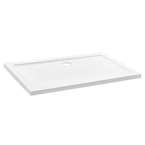 [neu.haus] Piatto doccia 80x120cm bianco puro rettangolare extra piano bagno