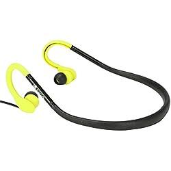 NGS ELEC-HEADP-0100 - Auriculares deportivos, color amarillo