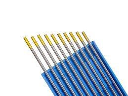 Hst 10St. Wolframelektroden Wolframnadel WP Grün, WC20 Grau, WL15 Gold, 4 Stärken x150mm (1,6 mm, Gold)