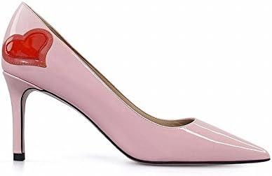 DIDIDD Fino con la Boca Baja Señaló Tacones Altos Zapatos Salvajes,Rosado,36
