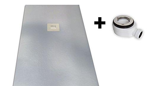 Platos de ducha y mamparas Receveur de douche en résine 90 x100cm gris clair