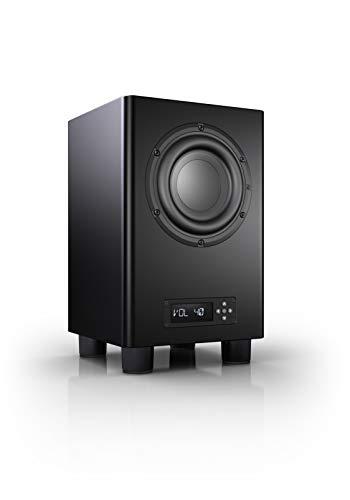 Nubert nuPro AW-350 Subwoofer | Lautsprecher für Bass & Effekte | Surround & Action auf hohem Niveau | Aktivsubwoofer-Technik | LFE-Box mit 200 Watt | Grenzfrequenz 35 Hz | Kompaktsubwoofer Schwarz