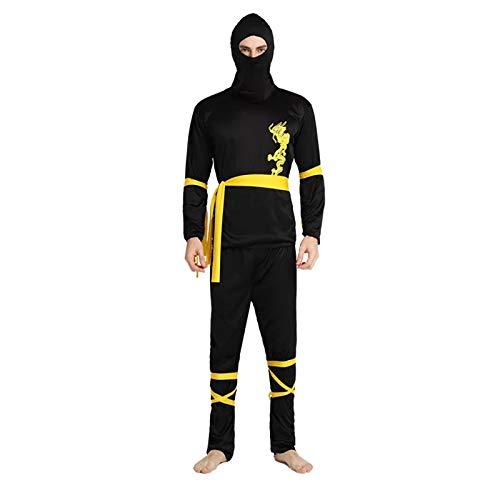 thematys Ninja Anzug Kostüm-Set für Herren - perfekt für Fasching, Karneval & Cosplay - Einheitsgröße 160-180cm (Kostüm Realistische Ninja)