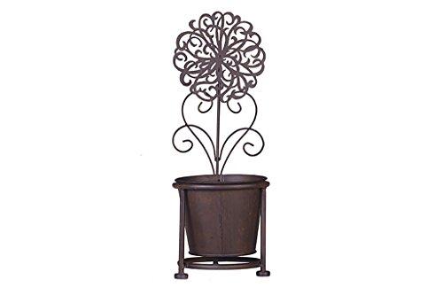 Porte-plancher en pot de fleurs. Étagère de fleur de fer balcon étage intérieur et extérieur Flowerpot Taille: 15 * 15 * 43 Cm Plantes en pot