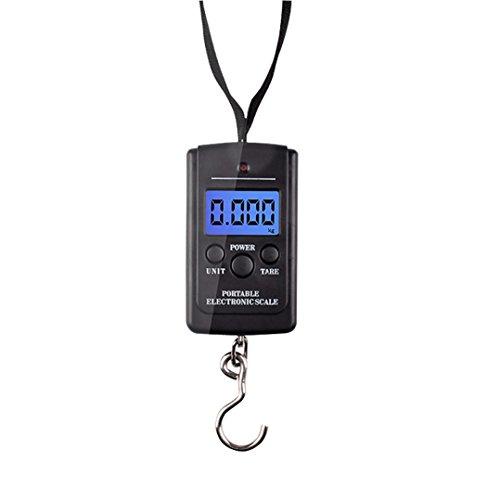 HCFKJ 40 kg x 5g Digitalwaage für Angeln Gepäck Steelyard Hängende Elektronische Waage
