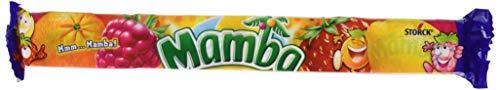 Mamba Kaubonbon - Fruchtiger Süssigkeiten Mix - Fröhliche Bonbons zum Naschen für dieganze Familie - (24 x 4er Stangen)