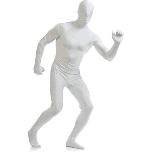 Matissa Männer Frauen Ganzkörper Unisex Spandex-Kostüm Erwachsene zweite Haut Kopf bis Fuß Kostüm (Weiß, XX-Large)