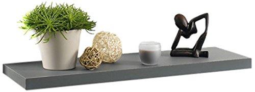 Modul'home 6ran792bc - mensola in mdf, 75 x 22,8 x 3,4 cm, colore, pannello mdf, grigio/antracite, 75 x p22,8 x 3,4 cm