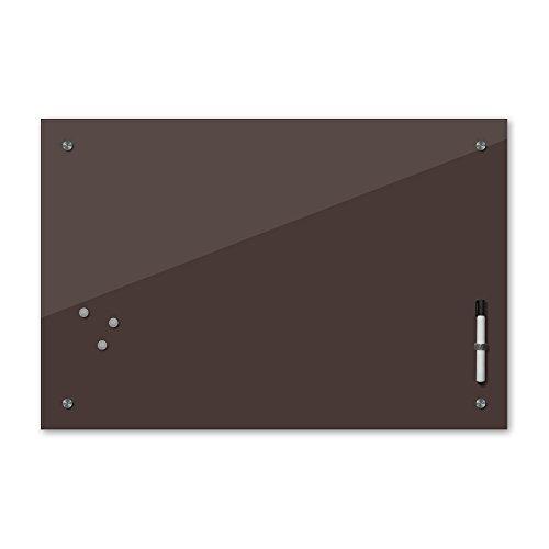 Bilderdepot24 Glas Magnettafel Memoboard Schreibtafel 60 x 40 cm, 24 Farben, braun