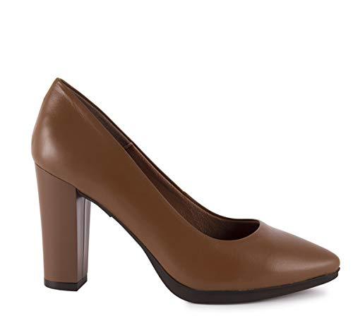 Chamby -Zapatos Salon Tacon Ancho Plantilla Acolchada