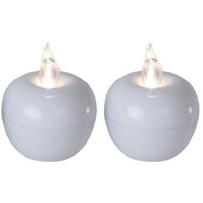 star-dcoration-de-table-led-mini-apple-2-picescouleur-blanc-5-x-4-cmpiles-inclusesbote-fentre-avec-