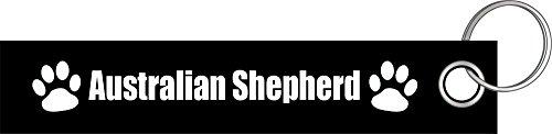 Australian Shepherd Hund Hunde Hunderasse Pfote Schlüsselanhänger Schlüsselband Keyholder Lanyard (Hundefutter Aufkleber)