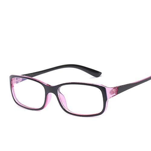 Jiuyizhe Retro Brille Unisex Anti-Blue Computer Brille kleinen Rahmen Brille für Studenten (Color : Red)