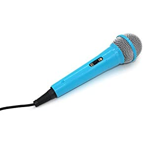 ZRAMO Professional Classic-style Blue Color Kids Dynamic Microphone for Kids Singing Machine Microphone Unidirectional Dynamic Microphone with 10 Ft. Cord-Works with the Costco frozen machine