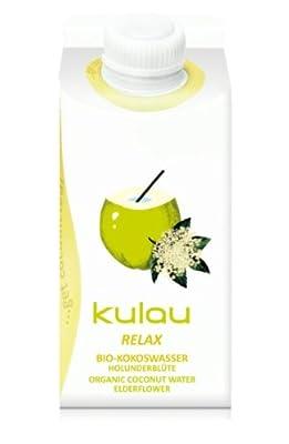 8 x 330ml KULAU Relax - Kokoswasser mit Holunderblüte