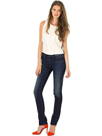 Jeans Perfect Slim Comfort Used Old / Encre TEDDY SMITH W26 Femme