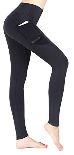 Munvot Herbst/Winter-Kollektion Damen Sport Leggings Hohe Taille Fitnesshose Blickdichte Leggings Glanz Training Tights Strumpfhosen Yoga...