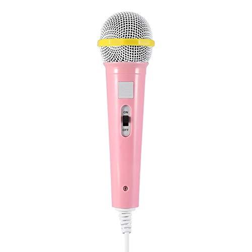 VBESTLIFE Wired Handheld Mikrofon, Tragbare Musical Puppe Spielzeug Karaoke Mikrofon für Kinder Kinder(Rosa)