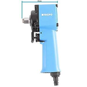 Tecpo – Mini llave de impacto de aire comprimido, 1/2 pulgadas, con martillo jumbo, 650 Nm, con cambio de una sola mano