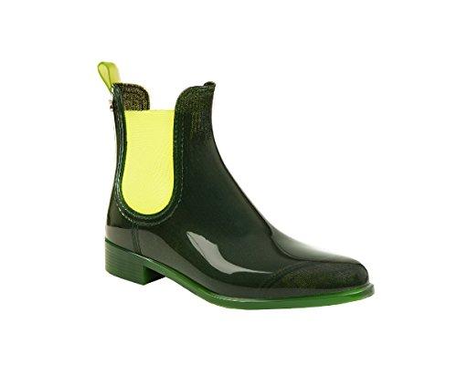 Lemon Jelly Damen Pisa Chelsea Boots Grün (Bottle Green)
