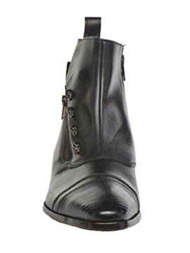 Bottines montantes classic en cuir model Bruno par HGilliane Design Eu 33 au 44 Noir