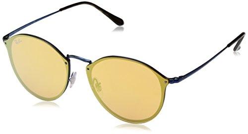 Ray-Ban RAYBAN Unisex-Erwachsene Sonnenbrille 3574n Blue/Darkorangemirrorgold, 59