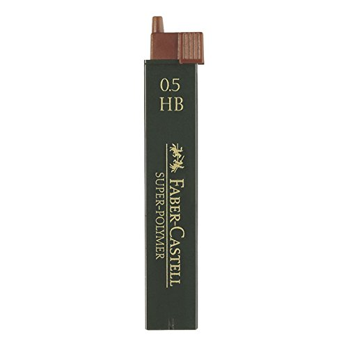 Faber Castell B-9065-HB - Blíster tubo de 12 minas, 0.5 mm HB, color negro