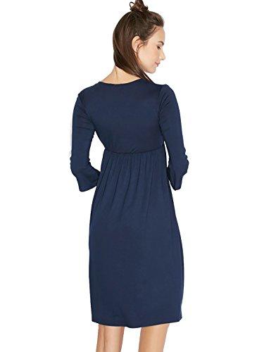 Jollychic Damen Tunika Kleid Navy