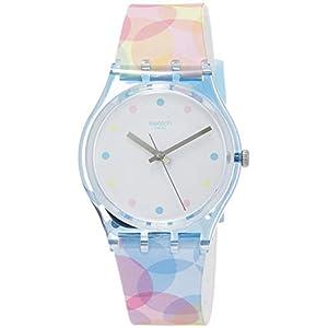 Swatch Reloj Analógico para Mujer de Cuarzo con Correa en Silicona GS159