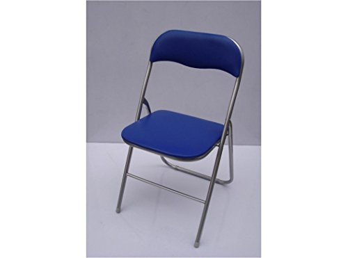 Gonzalez Del Viejo Chaise pliante bleu 43 x 47 x 80 cm