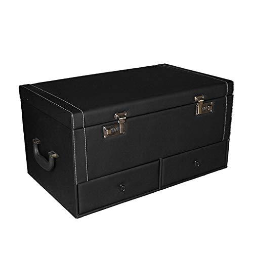 Dyl Auto-Aufbewahrungsbox Kofferraum Aufbewahrungsbox Auto-Aufbewahrungsbox Innenraum liefert Aufbewahrungsbox Heckbox Aufbewahrungsbox (Color : RED, Size : 58CM*36CM*30CM) -