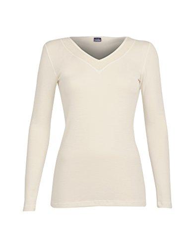 DILLING Damen Langarm Shirt aus Wolle & Seide