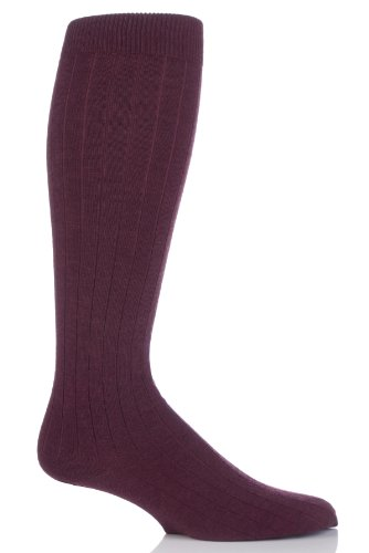 mens-1-accoppiamento-viyella-gambaletto-wool-socks-coste-con-le-dita-dei-linked-mano-mulberry