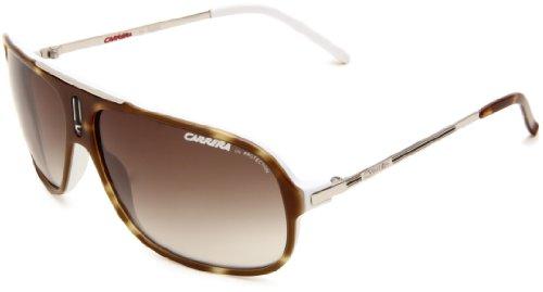 Carrera Cool/S Navigator Sunglasses Havana White & Palladium Frame/Brown & Grey Gradient Lens One Size image