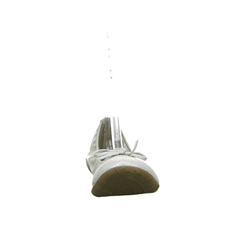 living Updated 221897-919 Damen Ballerina flacher Boden ohne ausgeprägten Absatz Grau (Silber)