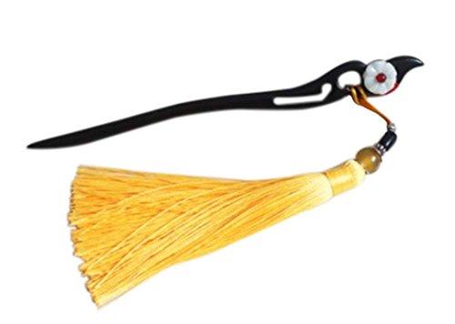 style classique accessoires du vêtement en bois, houppe vin jaune