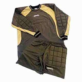 all4you-sportswear Goalkeeper's Jersey with Shorts, Golden Yellow, Small