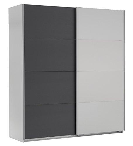 Wimex 507052 Schwebetürenschrank, 135 x 210 x 65 cm, alpinweiß / anthrazit