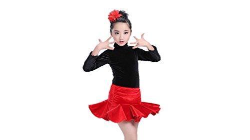 MATISSA Kinder 2 - Peices Tanzkostüme Ballettkleider Röcke Tanzkleidung Kinder Mädchen 3-15 Jahre (Schwarz und Rot, 140 (10-11 (Rote Und Schwarze Tanzkostüme)