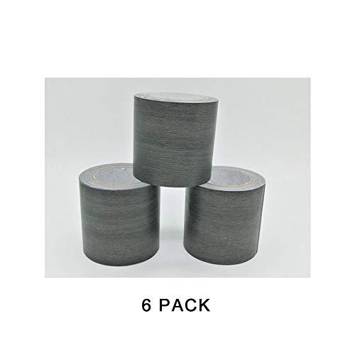 Simuliertes Holzmaserband, zum Dekorieren von Boden, Tisch und Stühlen, 6 Stück (5,7 cm x 4,5 m / 0,19 x 14,8 ft),Blacksandalwoodoakgrain -