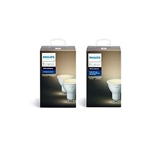 Philips Hue White Ambiance GU10 LED Spot Dreierpack, dimmbar, alle Weißschattierungen, steuerbar via App, kompatibel mit Amazon Alexa (Echo, Echo Dot)