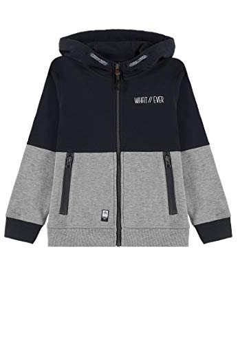 Sweat-jacke (TOM TAILOR Kids Jungen Sweatjacket solid Sweatjacke, Blau (Dress Blue 3043), 92 (Herstellergröße: 92/98))