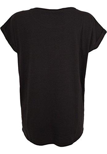 TB771 Ladies Extended Shoulder Tee T-Shirt Black