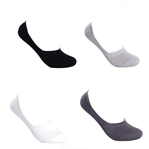 Selling Herrensocken, Sportsocken (4 Stück), Herren-Deo-Socken, Herren-Low-Socken, unsichtbare Bambusfaser-Socken, Deodorant und schweißabsorbierend. Einfarbig