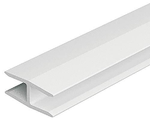 Gedotec Stabilisator für Kleider-Schrank Möbel-Verbinder für Rückwand Schrankverbinder Befestigen | H3502 | 2000 mm | Kunststoff weiß | für Rückwanddicke 4-5 mm | 1 Stück