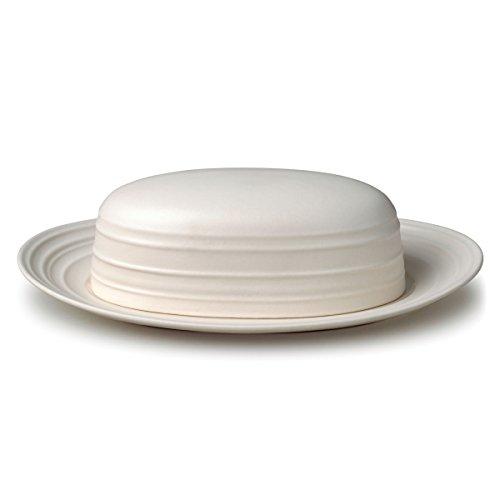 Mikasa White Dish (Mikasa Butterdose mit Deckel, 23 cm, Weiß)