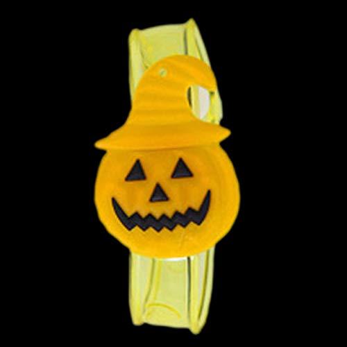 xiaoyamyi gut verarbeitetes glänzendes Armband Totenkopf Geisterkopf Kürbis Flash Armbanduhr Halloween Deko Armband für Frauen & Mädchen - Farben